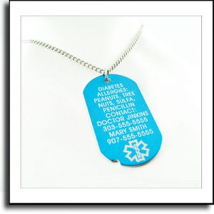 medical tag or identification tags