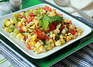 Having food restrictions due to diabetes? Try this Smoked Corn Salad
