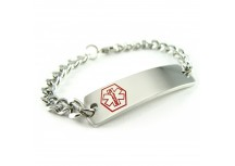 Classic, Pre-engraved Diabetes Type I Bracelet, Curb Chain