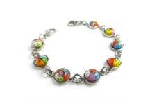 MyIDDr Round Millefiori Glass, Interchangeable Medical Bracelet Strand