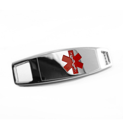 Myiddr Modern Red Steel Medical Alert Id Plate