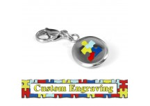 MyIDDr Autism Awareness Keychain Custom Engraved