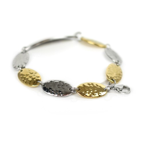 Myiddr Womens Medical Bracelet Engraved Silver And Gold