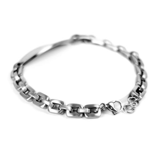 myiddr medical id bracelet engraved silver gun metal links