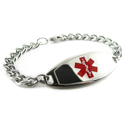 for alert myiddr a in displays engraved option this product medical rose additional that black hearts hemophilia button opens zoom to womens ip with out images bracelet the dialog pre steel or