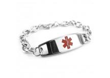 MyIDDr Modern Steel Medical Alert Bracelet O-LINK Chain