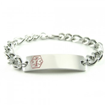 White Symbol My Identity Doctor Pre-Engraved /& Customized Narcolepsy ID Bracelet Steel Raindrop