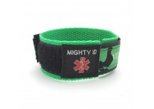 Mighty ID Green Adjustable Velcro Medical ID Bracelet