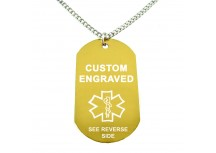 MyIDDr Yellow Aluminum Medical Alert ID Dog Tag
