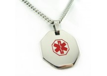 MyIDDr Steel Medical Alert ID Necklace